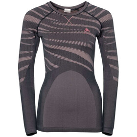 Odlo Suw Performance Blackcomb LS Top Crew Neck Women odyssey gray-mesa rose